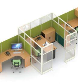 Jual Ruangan Partisi Kantor Uno Premium Konfigurasi 27 C Murah Di Surabaya