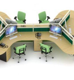 Jual Partisi Kantor Uno Premium 6 Staff Murah DI Surabaya