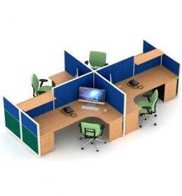 Jual Partisi Kantor Uno Premium 4 Staff Konfigurasi 26 C Murah Di Surabaya