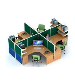 Jual Partisi Kantor Uno Premium 4 Staff Konfigurasi 26 B Murah Di Surabaya